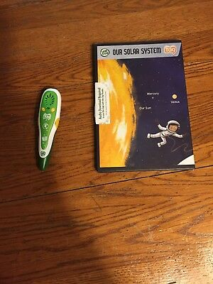 Leap Frog Tag Green/White Reader Pen And Our Solar System Interactive Board