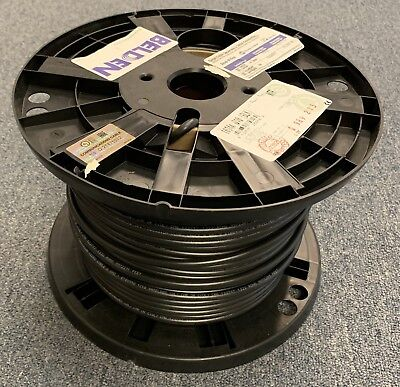 Belden 1694A Video Brilliance HD-SDI RG6 18awg Coaxial Cable 6GHz BLACK/300ft