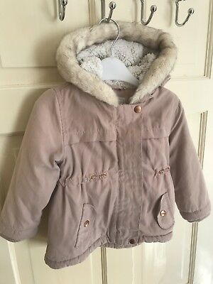 Girls Winter Parka Coat - Size 12 to 18 months