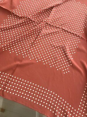 Margaret Howell Pale Terracotta & White Spotted Hand Rolled Silk Scarf