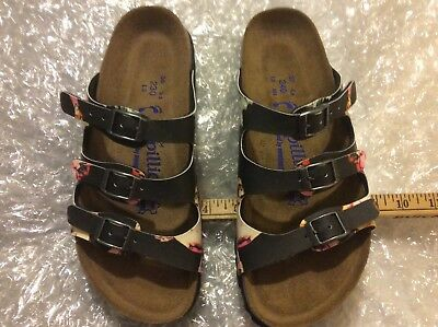 2baedb14e22b4f Papillio By Birkenstock Florida Painted Bloom Black Softfoot Us 5N 6N Eu  36 37