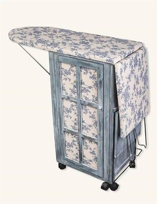Victorian Trading Co NWOT French Country Ironing Day Station Board & Cabinet