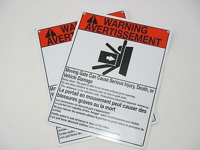Gate Moving Warning Signs Can Cause Serious Injury, Death (Pack of 2)