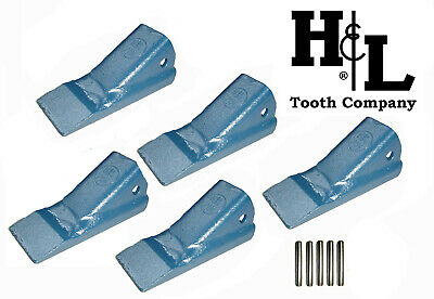 H&L 2A Series Original 2AH Fabricated Bucket Tooth (1 or 5 Pack) Teeth + Pins