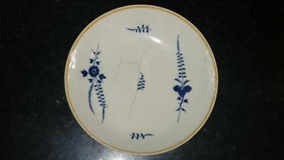 Scarce 18th C French Antique Chantilly Sprigged Porcelain Saucer Dish C 1725+