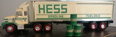 1987 Hess Toy Truck Bank with original green barrels *NO BOX*
