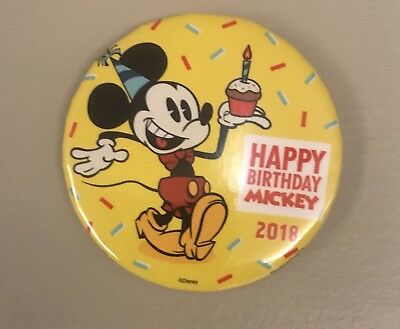 Happy 90th Birthday Mickey Mouse 2018 Disney Parks Exclusive Button D23