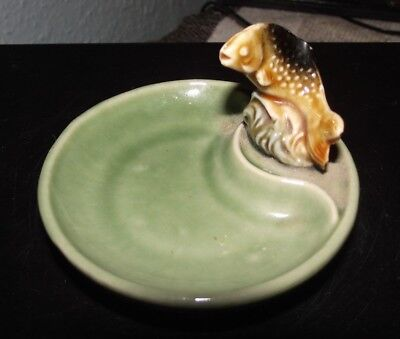 Vintage (Wade) Trout Fish Ring/trinket Dresser Tray/dish - Good Condition.