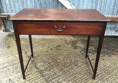 Georgian Mahogany Side Table With Drawer