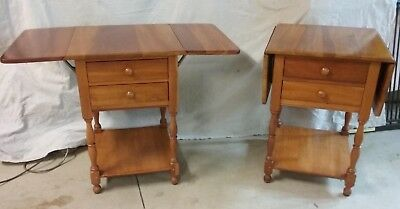 """Pair of Harden """"Penfield Traditional"""" solid cherry end tables"""
