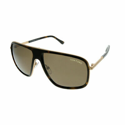 683e49ac8be Tom Ford Quentin TF 463 52K Dark Havana Plastic Square Sunglasses Brown Lens