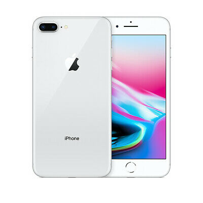 Apple iPhone 8 Plus 64GB AT&T - Silver 4K IP67 Smartphone 64 GB A1897 iOS