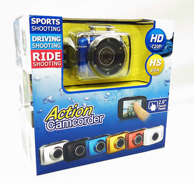 Action GOPRO Camcorder Touch Screen HD 720P CAMERA DIVING MOTORCYCLE HELMET