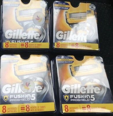 Gillette Fusion ProShield Razor Refill Cartridges (4) 8 ct packs