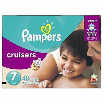 Pampers Size 7 Cruisers Disposable Diapers 48 Count