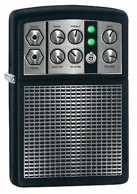 "Zippo ""Stereo Amplifier"" Black Matte Finish Lighter, Full Size, 5399"