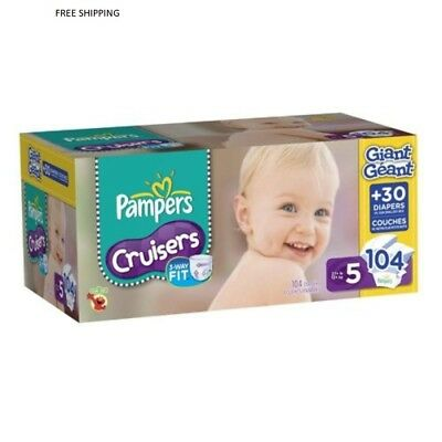 Pampers Cruisers Diapers Size 5 Giant Pack, 104 Count