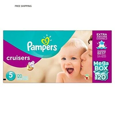 Procter And Gamble Pampers Cruisers Diapers, Size 5 (27+ lbs.), 120 ct.