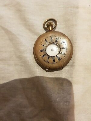 Antique/vintage Gold Filled Half Hunter Pocket Watch Spares / Repairs Look