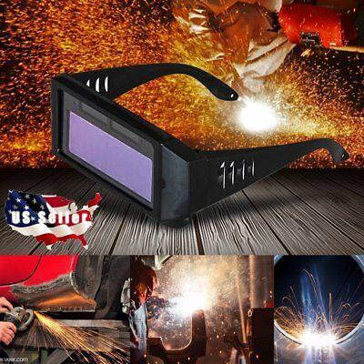 Solar Powered Auto Darkening Welding Eyes Goggle Welding Blinkers Welder Glasses
