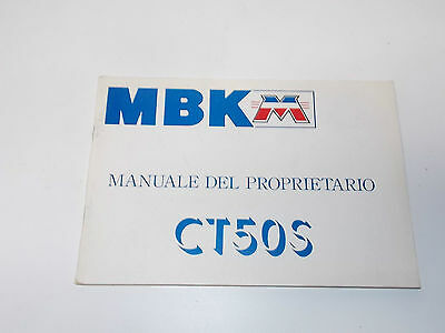 new 1990's mbk ct50s owner manual book in italian yamaha scooter motobecane