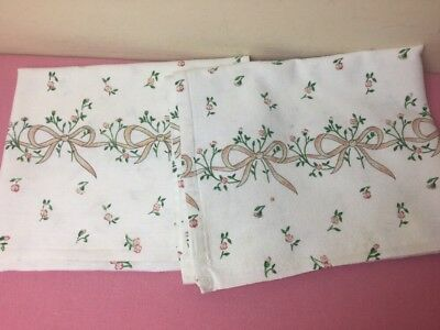 Johnson Brothers Eternal Beau 2 x Tea Towels Used Condition Very Rare