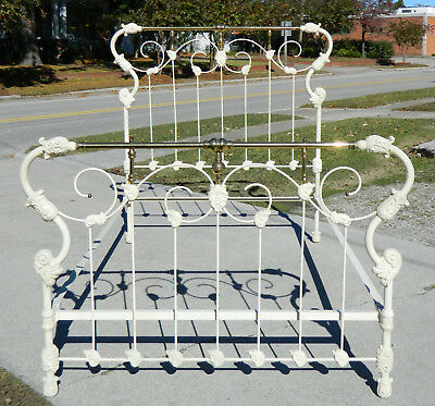 Victorian Iron and Brass Bed~~~Full Size