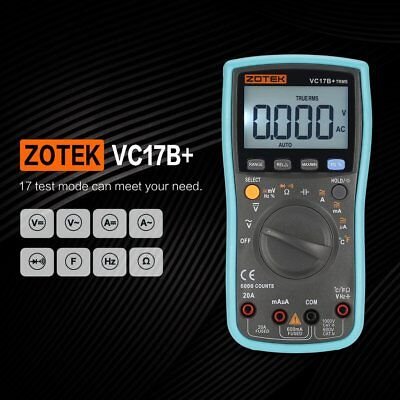 ZOTEK VC17B+ 6000 Counts True-RMS Digital Multimeter Auto Range AC/DCMeter GR