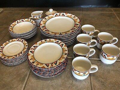 Vitromaster 1993 Dish Set Of 36 Vintage ISIS 4 Complete Place Settings + Extra