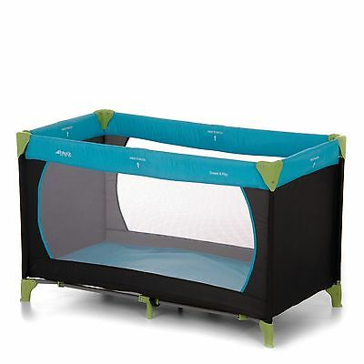 Hauck Dream'n Play Travel Cot - Water Blue MATTRESS INCLUDED