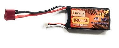 1500mAh 7.4V 45C 2S RC Lipo Battery Hard Case With Dean T Plug For RC Model Boat