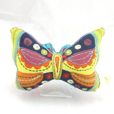 Cupcakes & Cartwheels Tooth Fairy Pocket Pillow Embroidered Butterfly Shape