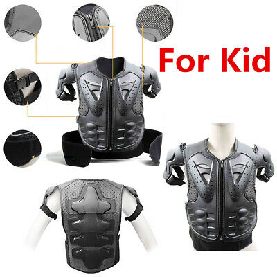 Motorcycle Body Armor Jacket Motocross Kid Child Spine Chest Protection Gear