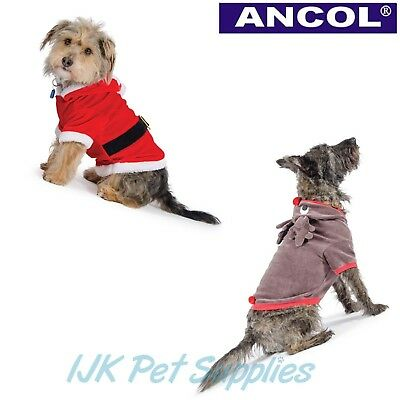 Ancol Christmas Xmas Dog Puppy Santa or Reindeer suit outfit SALE