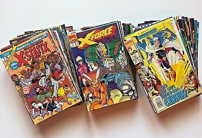 HUGE X-MEN Titles Comic Lot of 92 - Uncanny, X-Force, X-Factor, Excalibur, More!