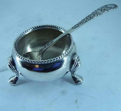 Antique Silver - Salt Cellar with Spoon London 1867