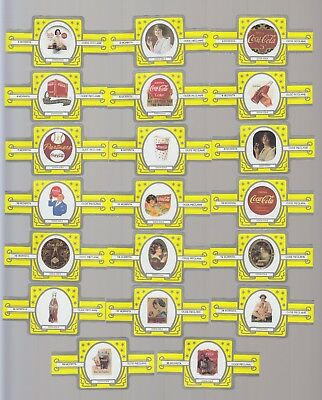 Advertisements for Coca Cola : complete European cigar band set - yellow