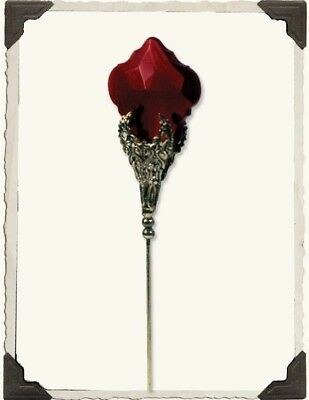 Victorian Trading Co Ruby Spear Hatpin Crystal & Brass New