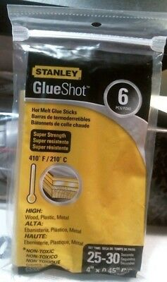 Stanley GS500 6-Pack 4-Inch Formula II-Super Strength Glue Sticks FREE SHIPPING