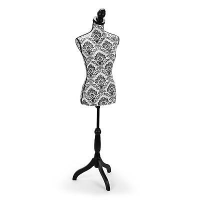 Ladies Torso Female Women Mannenquin Body Fit Sewing Tailor 36/38 Led Lamp Stand