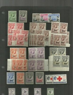 BECHUANALAND early QEII stamps duplicated lot