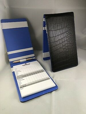 Tour Issue Crocodile Leather Scorecard Holder Black/Blue New