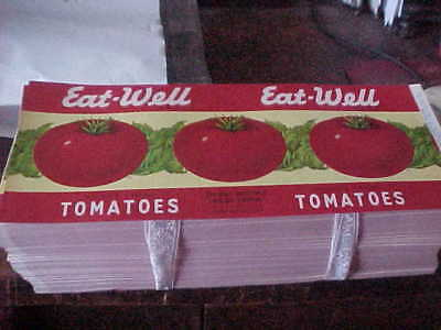 Vintage Lot of 50 Eat Well Tomatoes Labels New Old Stock