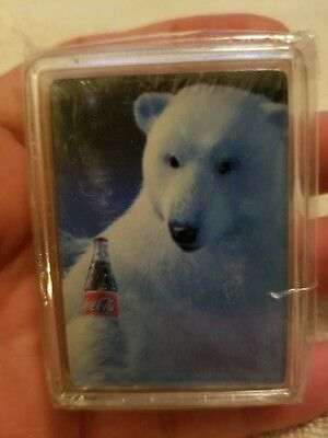 Coca-cola Polar Bear NEW Unopened Mini Playing Cards
