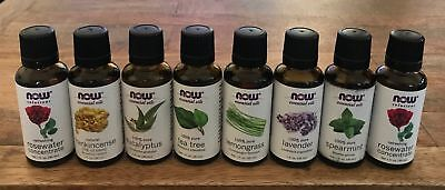 (Lot of 8) Now Foods Essential Oil Set - 1 oz/ 30 ml - Each / Assorted Scents