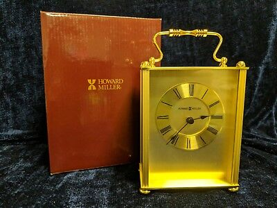 HOWARD MILLER BRASS CARRIAGE CLOCK 645-317 - New in Box - Free Shipping