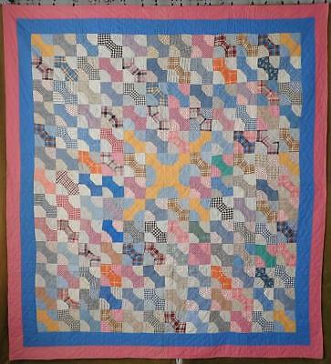 Never Used! Charming Farmhouse Vintage 30s Well Planned Bow Tie Quilt