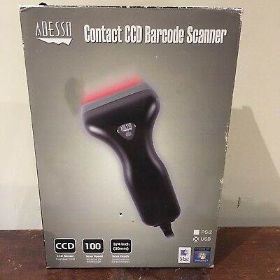 Adesso Contact CCD Barcode Scanner USB NuScan 1000U New Open Box POS
