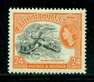 BRITISH GUIANA 282 SG360 MNH 1963 24c QEII Mining for Bauxite Wmk 314(12) Cat$5
