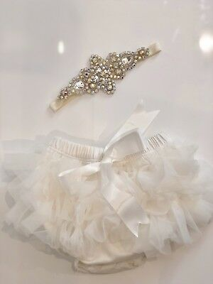 Newborn Photo Shoot Tutu And Crystal Headband